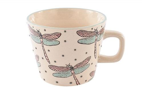 Gisela Graham Embossed Dragonfly Mug
