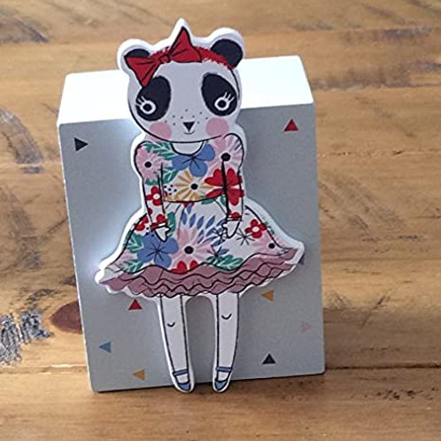 Gisela Graham Cute Panda Girl Moneybox