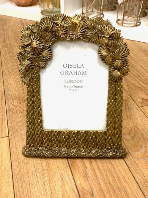 "Gisela Graham Gold Tropical Photo Frame 7""x5"""