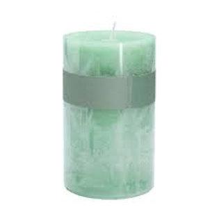 Gisela Graham Green Sage 20cm Pillar Church Candle