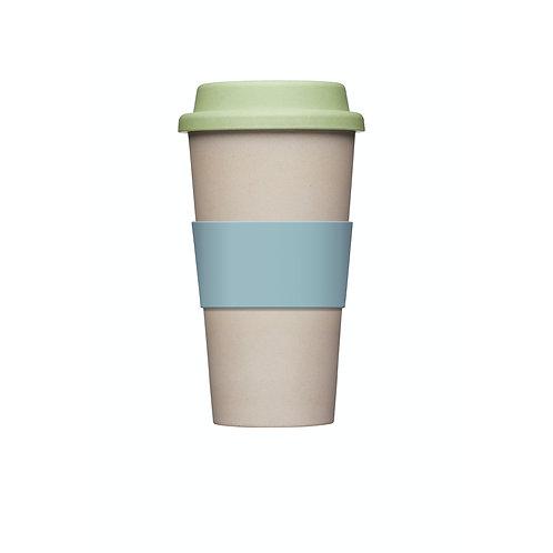 KitchenCraft Natural Elements Eco-Friendly Bamboo Travel Mug - Putty