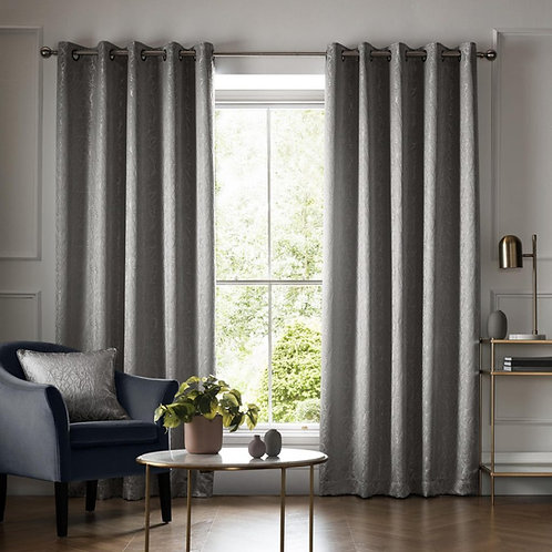 "Ashleigh Wilde Luxury Ready Made Curtains - Elstree - Smoke 46""x54"""