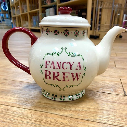 """Fancy a Brew"" Teapot"