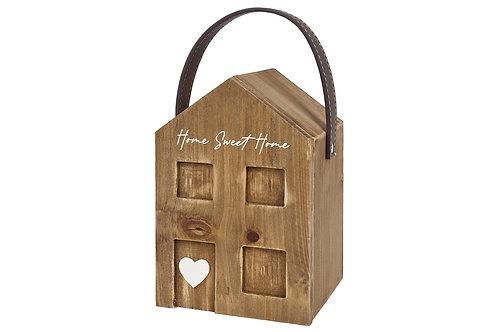 "House Shaped Wooden Door Stop ""Home Sweet Home"""