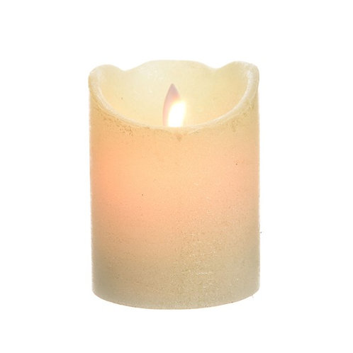 LED Wax Waving Candle Cream - 7.5x10cm