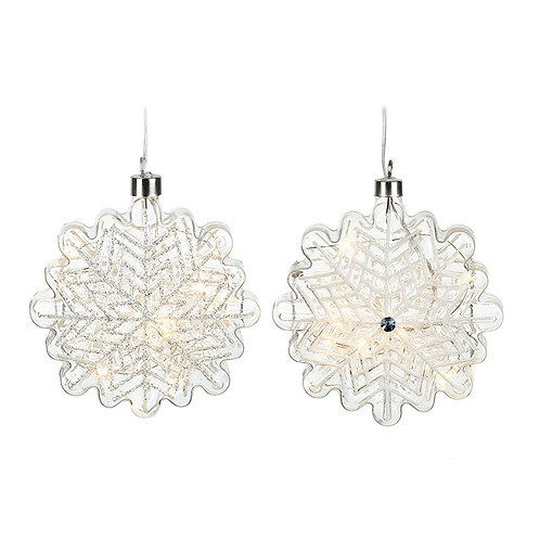 Hanging Light Up Snowflakes Set of 2