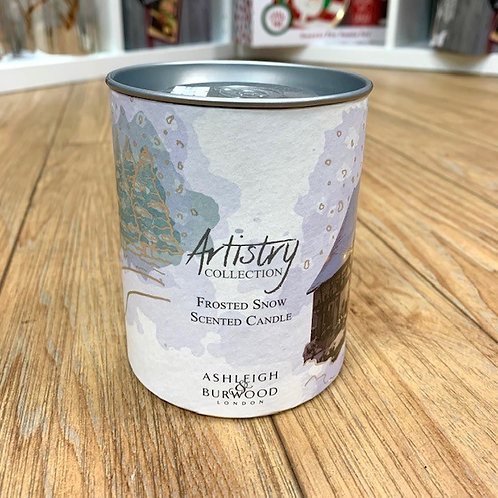 Ashleigh and Burwood Artistry Collection Frosted Snow Candle