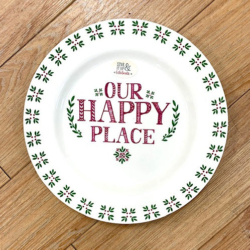 """""""Our Happy Place"""" Side Plate"""