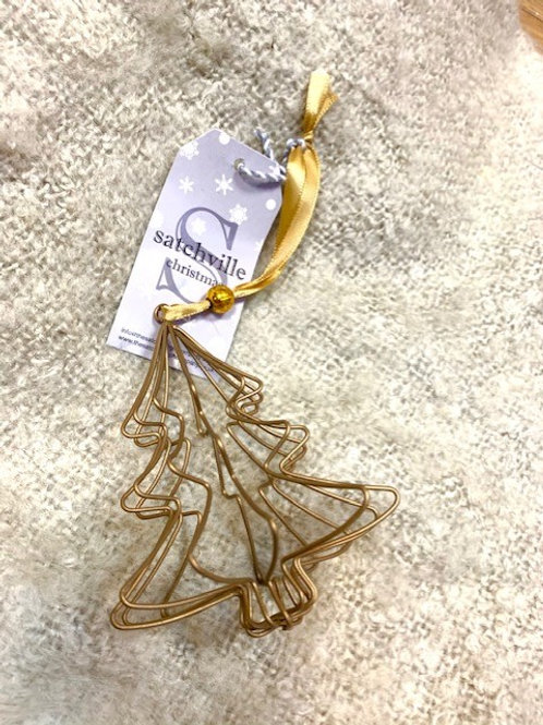 3D Gold Abstract Tree Hanging Decoration