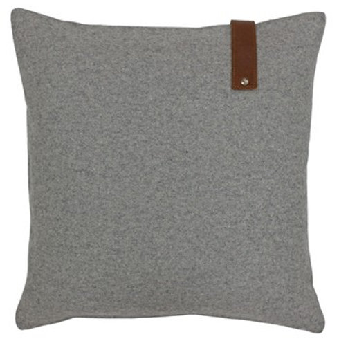 Hoxton Square Cushion With Leather Look Strap 45cm x 45cm