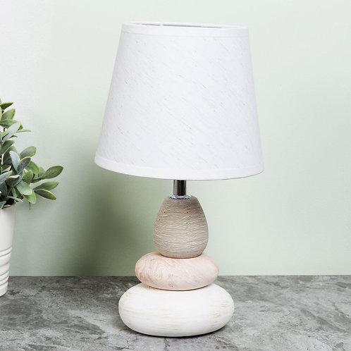 Hestia Pebble Lamp with White Shade