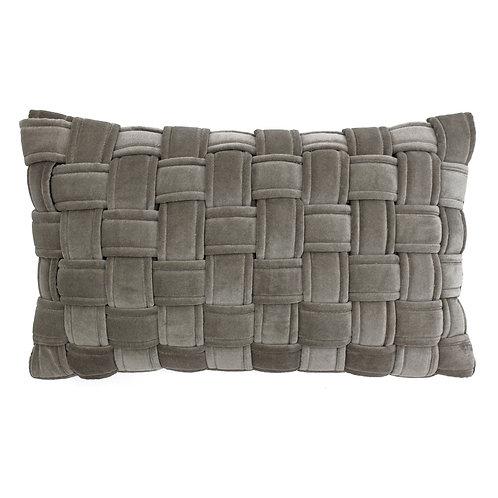Kross Taupe Oblong Cushion 30cm x 50cm