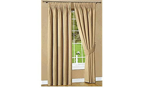 "Belfield Luxury Ready Made Curtains Urban Stone 90"" x 90"""