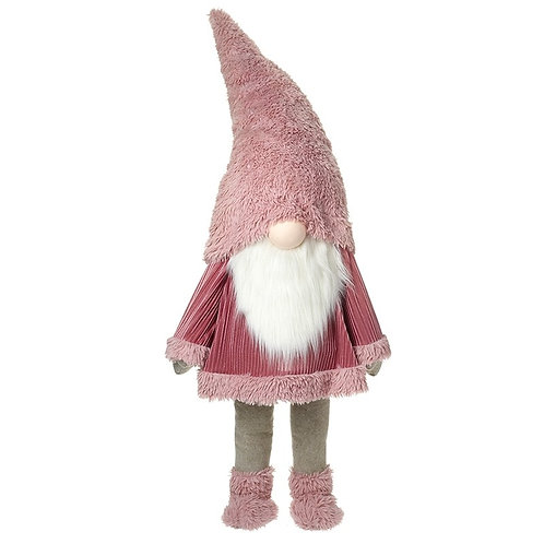Large Gonk with Pink Fluffy Hat and Outfit
