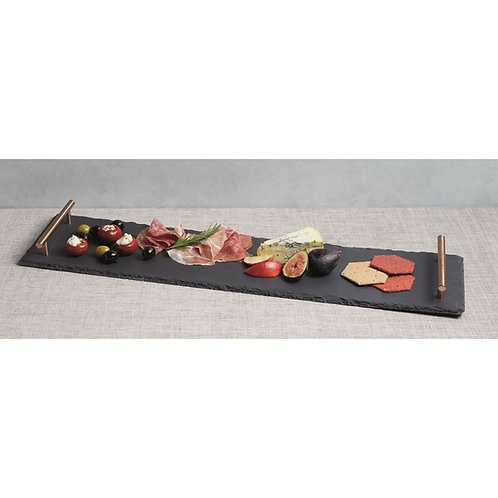 Artesa Hand Finished Serving Platter with Copper Handles