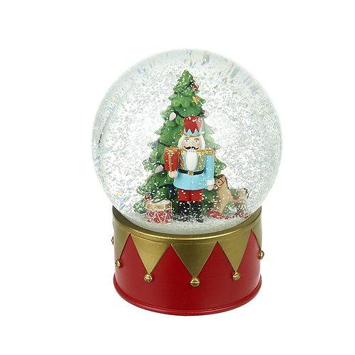 Christmas Tree and Nutcracker Soldier Snowglobe - Medium
