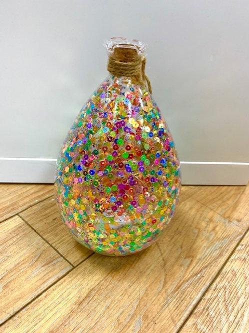 LED Light Up Sequin Jar