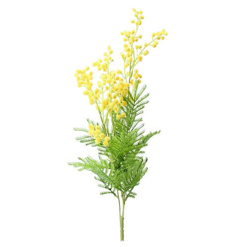 Faux Bunch Yellow Mimosa 46cm