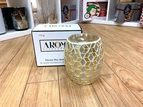 Aroma Electric Wax Melt Burner - Gold Mosaic