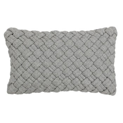 Kriss Oblong Grey Cushion 30cm x 50cm