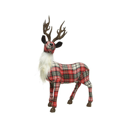 Patchwork Tartan Stag with Antlers