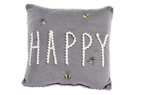 Soft Snuggly Bee Happy Cushion