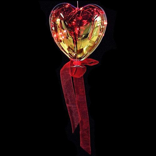 Lit Hanging Heart Balloon