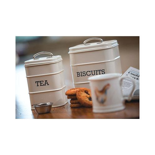 Living Nostalgia Tea Storage Canister - Antique Cream