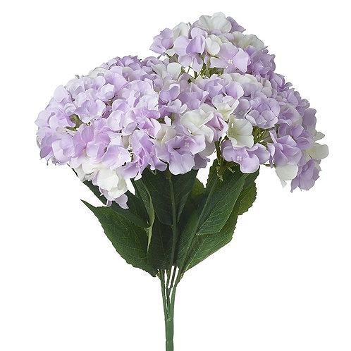 Heaven Sends Bunch of Soft Purple and White Faux Hydrangeas