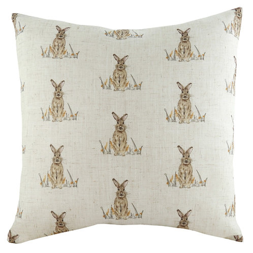 Oakwood Hare Repeat Square Cushion by Riva Home 43x43cm