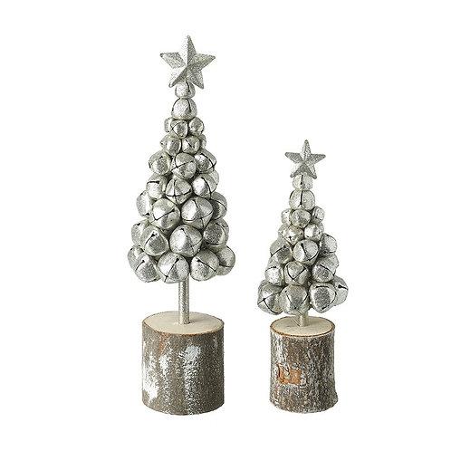 Set of 2 Metal Jingle Bell Trees