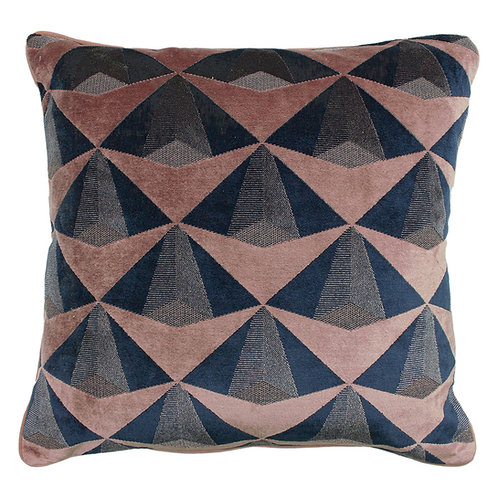 Leveque Cushion Blush and Navy 50x50cm