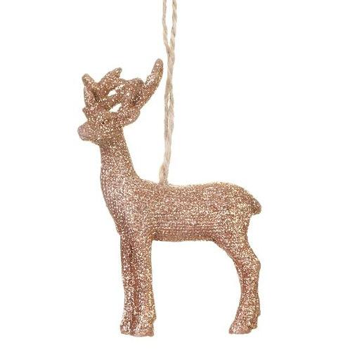 Gisela Graham Acrylic Copper Reindeer