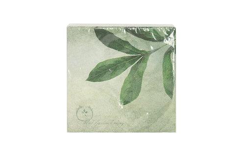 Green Jungle Leaves Paper Napkin