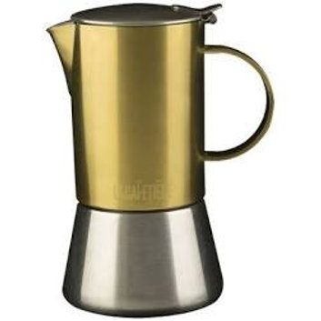 La Cafetiere Edited Gold and Brushed Chrome Stovetop 200ml Cafetiere