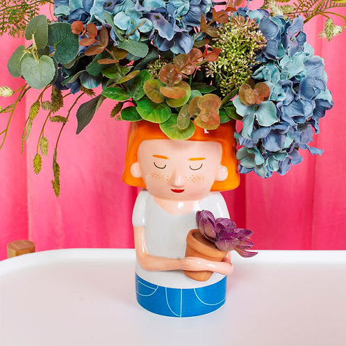 Sass and Belle Plant Mum Vase with Mini Planter