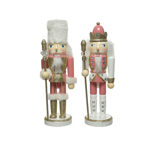 Pink Wooden Nutcracker with Moving Parts - Pink Hat