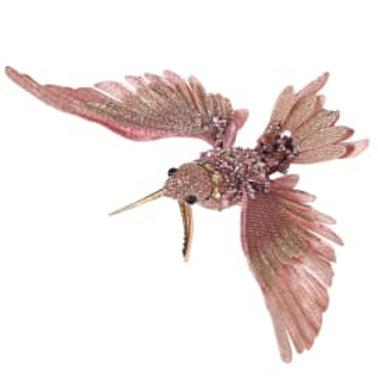 Pink Glitter Hummingbird