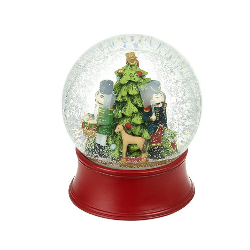 Christmas Tree and Nutcracker Soldier Snowglobe - Large