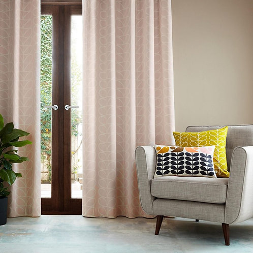 "Orla Kiely Luxury Ready Made Curtains Linear Stem Pink 46""x72"""