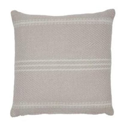 Weaver Green Oxford Stripe Shell Pink Cushion 45cm x 45cm