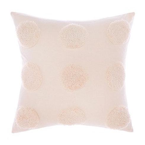 Haze Pink Cotton Square Cushion 45cm x 45cm