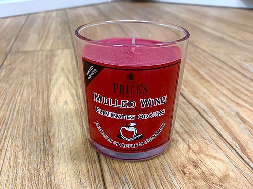 Price's Mulled Wine Odour Eliminator Candle