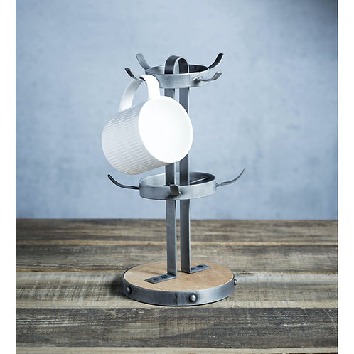 Industrial Kitchen Vintage-Style Metal Mug Tree