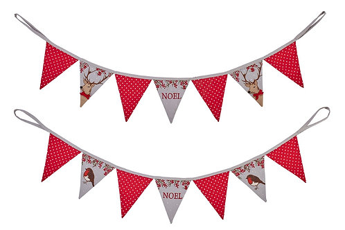 Christmas Berry Embroidered Bunting