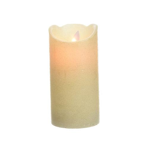 LED Wax Waving Candle Cream - 7.5x15cm