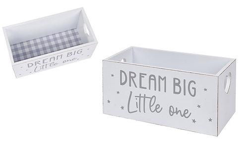Dream Big Little One Storage Crate Box