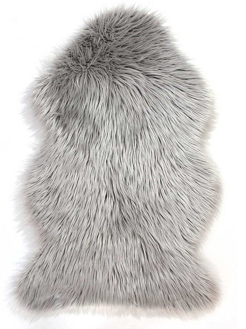Faux Sheepskin Rug - Grey