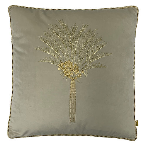 Desert Palm Silver and Gold Square Cushion by Riva Home 50x50cm