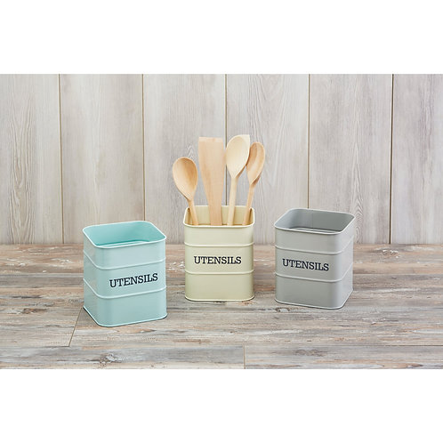 Living Nostalgia Utensil Holder - Antique Blue